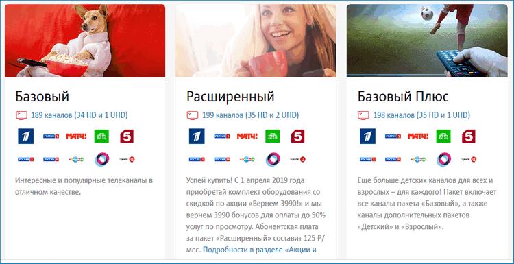 Каналы ТВ от МТС