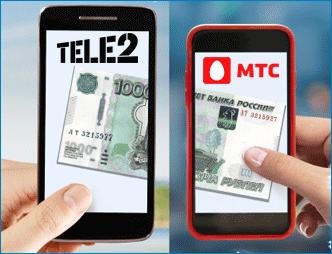 Перевод денег с МТС на Теле2